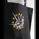 【機械刺繍】 M04_Bang・・レギュラーキャンパストートバッグ  黒