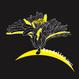 【機械刺繍】 M03_Dandelion・・レギュラーキャンパストートバッグ  黒