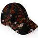 Peony and Butterfly emblem Baseball Cap