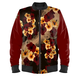Hibiscus Ladies Bomber Jacket