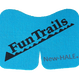 【FunTrailsオリジナル ニーダッシュ:ターコイズブルー】New-HALE Knee DASH