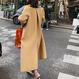 LE ウールブレンド裏バイカラーボックスコート S-XL