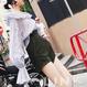 【再販】LE 胸元Vフリル袖パフスリーブフリルボリュームトップス