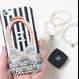 スマホケースERICA-28 ダマスク柄×ストライプ ブラック②  iPhone6Plus/6sPlus、Xperia Z5 Premium(SO-03H)、ARROWS NX(F-02H)