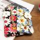 【在庫あり】2017花柄★マーガレット&水仙チャーム付 iphoneケース