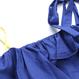 【在庫あり】ブルー×イエロー オフショルダー肩紐リボンキャミソール 118