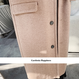 EC ビッグ襟ウール系膝丈ステンカラーコート
