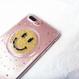 流れるビーズ&星ラメ スマイリーiPhoneケース 118