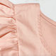 【在庫限り】EC 大振りVフリルゆる袖春ピンクブラウス