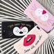 選べる3デザイン刺繍ネコの口元&唇iphoneケース