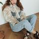 【完売】MY シースルー刺繍パフスリーブブラウス 2Color