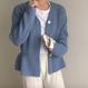 【在庫あり】ペプラムニットカーディガントップス