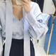 MY リボン付きオーバーサイズ袖フリルブラウス