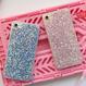【在庫あり】キラキラグリッター 選べる4色iphoneケース