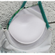 【在庫あり】ボタニカル柄グリーンハイウエストフリル ビキニ/水着 ML/XL
