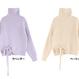 PZ 春まで着れるラベンダーハイネックセーター 2色