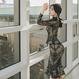 【在庫あり】シースルーレースヨーロピアンセットアップ風ドレス