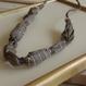 ハンドメイド刺繍ネックレス(グレー)