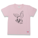 BIG  FACE  RABBITS  T-Shirts  PINK