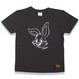 BIG  FACE  RABBITS  T-Shirts  CHACOAL