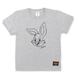BIG  FACE  RABBITS  T-Shirts  GRAY