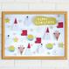 ★数量&期間限定  クリスマスポスター  Tiny Santa&Friends WHITE
