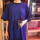 メッシュドッキングTシャツ ブルー