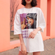クロスリボンプリントTシャツ ホワイト