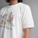 【BARNS】吊り編み天竺Print Tee