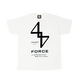 FORCE TEE (WHTxBLK)