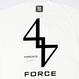 FORCE TEE (WHTxBLK)