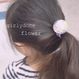 kids girlyflower domeヘアゴム