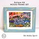 Art Print WOOD FRAME set 〝Aqua Green〟