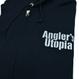 Angler's Utopia ジップアップパーカ [ブラック]