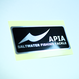 APIA メタルステッカー [ブラック×ヘアラインシルバー]