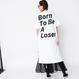 """【予約終了】thomas magpie """"born to be a loser"""" long T-shirt white"""
