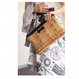 clutch bag  fake basket with chain gold