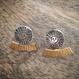 Sun & halo earrings oxi silver x gold (サン&ヘロピアス いぶし銀×ゴールド)