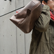 Boston bag/S/Olive gray Mirror finish