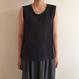 《evam eva》linen sleeveless pullover