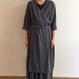 《evam eva》water linen cachecoeur robe