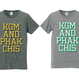 "KGM & PHAKCHIS COLLEGE ""WIDE"" TEE  (YELLOW) ※レディースアイテム"