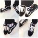 キノイくんのDOT靴下(白黒2足組セット/フリーサイズ)