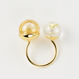 Charity : W glass dome ring (Champagne Series )