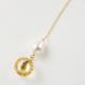 Charity : Glass dome American chain pierced earrings (Champagne Series )