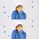 LOVE刺繍ビーニー【KMT-212WH】