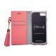 各種iPhone タッセル付手帳型ケース×ビジューリボン ピンク