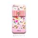 ♡名入れ対応♡各種iPhone ピンクフラワーシャワーB×ビジューリボン ハードケース
