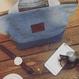 レターズ ランチバッグ #デニム×コーデュロイ  -01