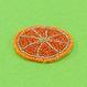 モチーフビーズワッペン/オレンジ